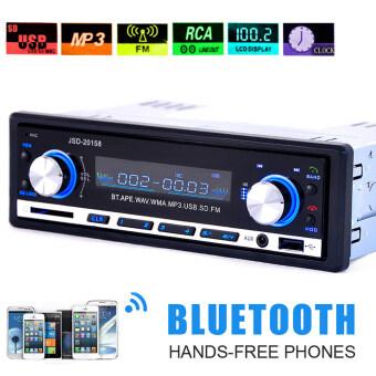 เครื่องเสียงรถยนต์เครื่องเสียงบลูทูธ 1 din ในชนวิทยุ fm เครื่องพีซีเอสโออินพุต MP3 เล่น