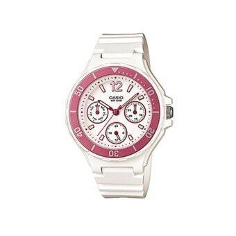 Casio Standard Lady นาฬิกาข้อมือผู้หญิง สีขาว สายเรซิ่น รุ่น LRW-250H-4A