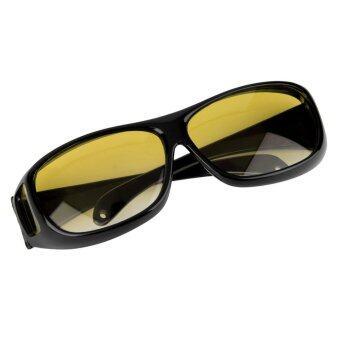 โอ้ยูวี 400 แว่นตาแว่นตากันแดดแว่นตาขี่รถประมงมองในที่มืด (สีดำ)