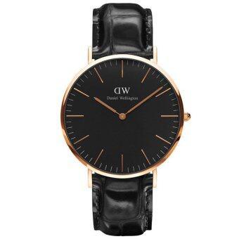 Daniel Wellington DW00100129 Classic Black Reading Horloge 40mm นาฬิกาข้อมือ แฟชั่น ผู้ชาย สีดำ Men Watch - Black