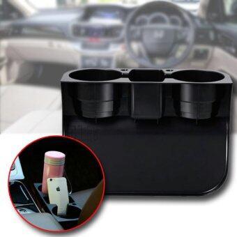 Elit ที่วางแก้ว เสียบข้างเบาะ ที่วางของเอนกประสงค์ในรถยนต์ Car Valet Black