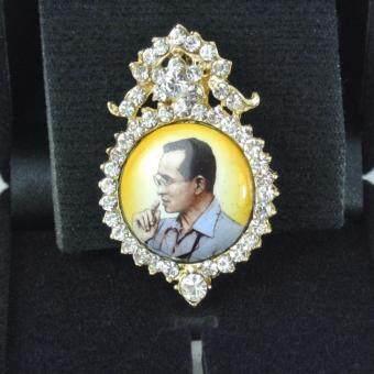 Pearl Jewelry เข็มกลัดในหลวง PK17 งานช่างไทยคุณภาพดี(Gold)