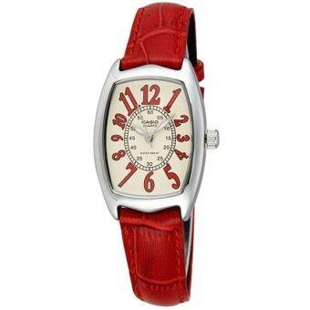 Casio Standard นาฬิกาข้อมือผู้หญิง สายหนัง รุ่น LTP-1208E-9B2 - Red