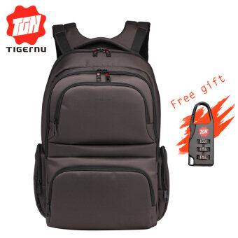Tigernu Waterproof Nylon Multi-functional Travel Men Women Backpack for 10.1-15.6 Laptop T-B3140(Coffee)- INTL