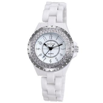 นาฬิกาข้อมือ นาฬิกาข้อมือสตรี นาฬิกาเซรามิกกันน้ำ SKONE
