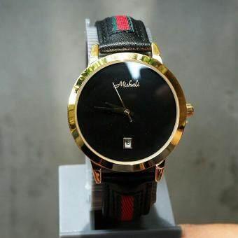 Mashali MT001 นาฬิกาข้อมือสุภาพสตรีหน้าปัดกลมสายหนังเท่ๆ