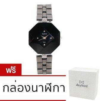 DAYBIRD นาฬิกาข้อมือผู้หญิงสายเซรามิค รุ่น DB-3940-BK-BK – สีดำ