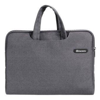 ไซเบอร์ซอฟท์ Netbook กระเป๋าโน้ตบุ๊คกระเป๋าแขนเสื้อเคส+อำจัดการสำหรับ 39.62ซม 35.81ซม 36.83ซมโน้ตบุ๊ค (สีเทา)