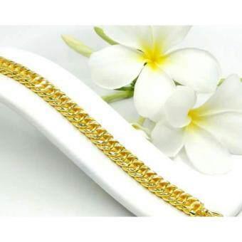 MONO Jewelry สร้อยข้อมือจากเศษทองแท้ลายจิกแบนโปร่งพ่นทราย รุ่นน้ำหนัก ๑บาท