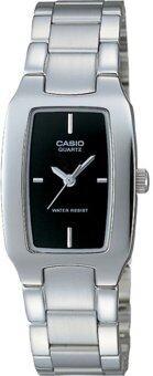 Casio นาฬิกาข้อมือผู้หญิง รุ่น LTP-1165A-1C (สีเงิน)