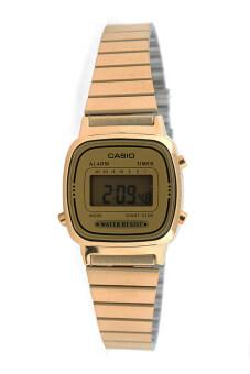 Casio Standard นาฬิกาข้อมือผู้หญิง สายสเตนเลส รุ่น LA670WGA-9DF - สีทอง