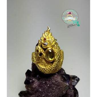 hindd แหวนพญานาคราช ประดับเพชรพญานาคตัวเรือน