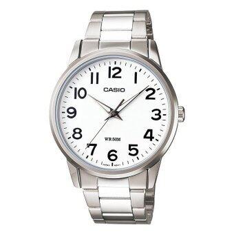 Casio Standard นาฬิกาข้อมือ รุ่น MTP-1303D-7B - Silver/White