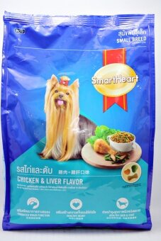 Smartheart รสไก่และตับ สุนัขพันธุ์เล็ก อาหารสุนัขชนิดเม็ด 1.5kg.