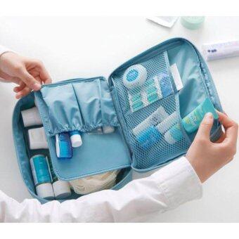 All About Traveler's กระเป๋าเครื่องสำอาง จัดระเบียบ สีฟ้า