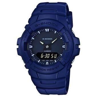 CASIO G-SHOCK รุ่น G-100CU-2A นาฬิกาข้อมือสายเรซิ่น สีน้ำเงินเข้ม