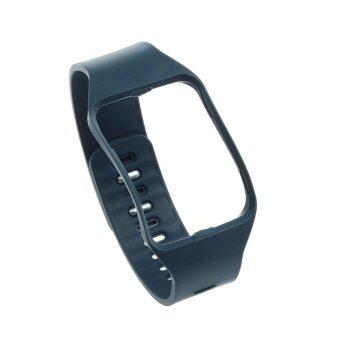 สายรัดข้อมือสายรัดข้อมือแทนนาฬิกาสำหรับ Samsung Galaxy Gear S R750 ก้อนหินสีน้ำเงิน