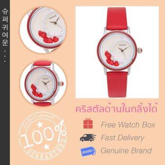 Daybird นาฬิกาข้อมือสายหนัง รุ่น DB-3777-RD-RD (สีแดง)