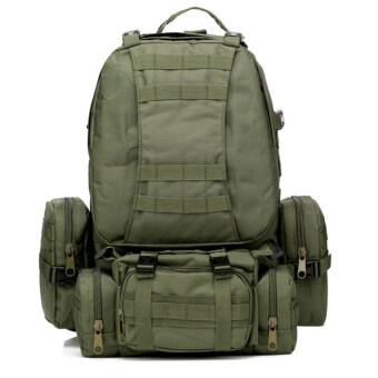good dee กระเป๋าสะพายเดินทางจัมโบ้ ชุด 4 in 1 (สีเขียวทหาร)
