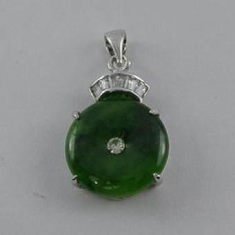 Pearl Jewelry จี้ห้อยคอหยกกลม PD17