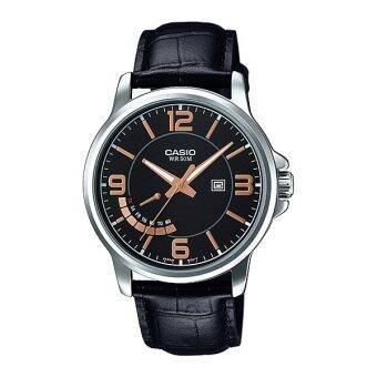 CASIO STANDARD นาฬิกาข้อมือผู้ชาย รุ่น MTP-E124L-1A
