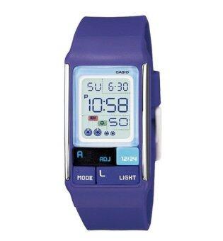 CASIO POPTONE นาฬิกาข้อมือสุภาพสตรี สีม่วง สาย Silicon รุ่น LDF-52-6ADR