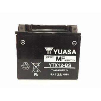 แบต BIGBIKE แบตเตอรี่ BIGBIKE แบตมอเตอร์ไซค์ บิ๊กไบค์ YUASA YTX12-BS 12V 10Ah