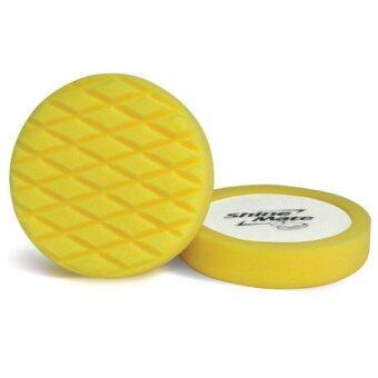 SHINE MATE ฟองน้ำขัดเคลือบสีรถ รุ่น Diamond Cross สีเหลือง ขนาด 7 นิ้ว