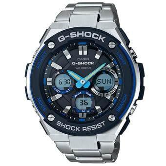 Casio G-Shock นาฬิกาข้อมือผู้ชาย สายเหล็ก รุ่น GST-S100D-1A2 - สีน้ำเงิน