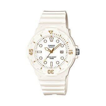Casio Standard นาฬิกาข้อมือผู้หญิง สีขาว สายเรซิ่น รุ่น LRW-200H-7E2