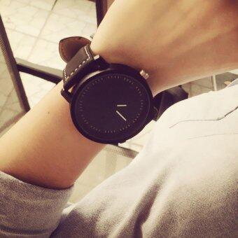 เพศหญิงชายนาฬิกาข้อมือนาฬิกาควอทซ์คล้ายคลึงสีดำ