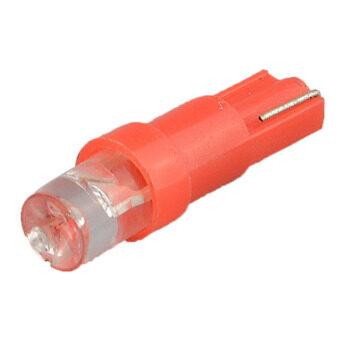 ของ oem 10ชิ้นแบนสีแดงแสง T5 หลอดไฟ led มุมแผงหน้าปัดสำหรับรถยานพาหนะ