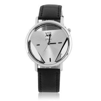 นาฬิกาข้อมือสายหนังหน้าปัดอะนาล็อคแฟชั่นสำหรับบุรุษ 1 เรือน
