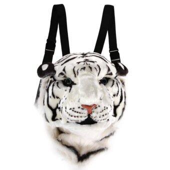 ขาวกระเป๋าเป้กระเป๋าหัวการ์ตูนสัตว์เสือ Daypacks สำหรับเดินทาง
