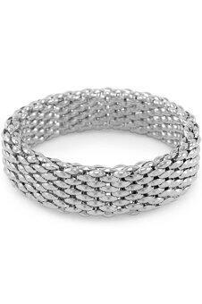 555jewelry กำไลสำหรับสุภาพสตรี รุ่น MNC-BG053-A ( Silver )