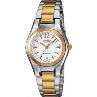CASIO lady นาฬิกาข้อมือผู้หญิง สองกษัตริย์ Silver Stainless Strap รุ่น LTP-1253SG-7ADF