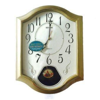 RHYTHM นาฬิกาแขวน รุ่น CMJ494BR18 (Gold)