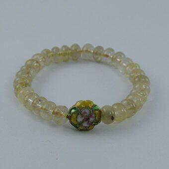Pearl Jewelry กำไลหินไหมทอง S28
