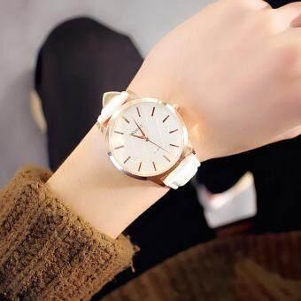 KPshop นาฬิกาผู้หญิงสายหนัง นาฬิกาข้อมือแฟชั่น นาฬิกาสวยๆของผู้หญิง รุ่น LC-005 (สีขาว)