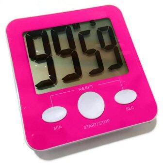 Stopwatch Fitness นาฬิกาจับเวลา ดิจิตอล เหมาะสำหรับออกกำลังกายนับเซท (สีชมพู)