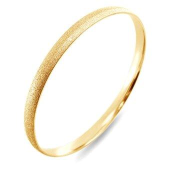 555jewelry กำไลข้อมือวงกลมคลาสสิค Sand dust Texture รุ่น MNC-BG166-B - สี Yellow Gold