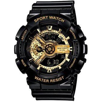 Wonderful story S SPORT นาฬิกาข้อมือ ใส่ได้ทั้งชายและหญิง กันน้ำได้-SP024 (BLACK/GOLD)