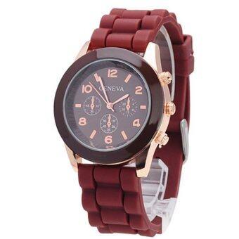 Genava Colorful นาฬิกาข้อมือผู้หญิง สีน้ำตาล สายซิลิโคน รุ่น GNV-565