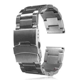 22มม.นาฬิกาสายสเตนเลสรัดตรงปลายสร้อยข้อมือบิดล็อค-เรา