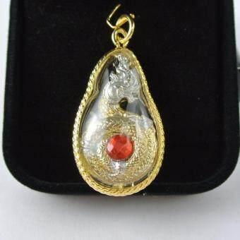 Pearl Jewelry จี้พญานาค 2 กษัตริย์ มณีแดง