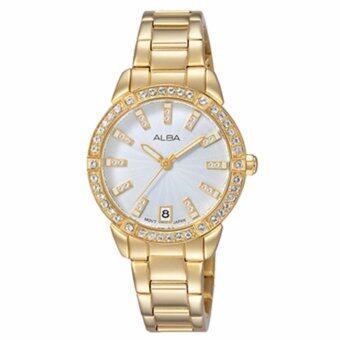 ALBA นาฬิกาข้อมือผู้หญิง สีทอง สายสแตนเลส รุ่น AG8H02X1