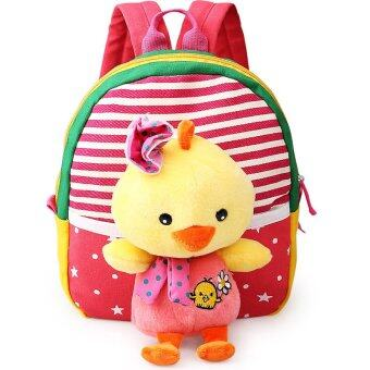 Harga Children's school bags for boys and girls in kindergarten kids 1-3 years baby bag cute backpack Red chick