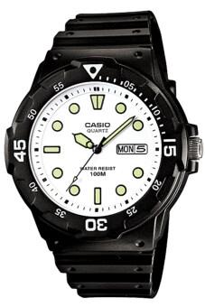 Casio Standard นาฬิกาข้อมือผู้ชาย สายเรซิ่น รุ่น MRW-200H-7EVDF - สีดำ/ขาว