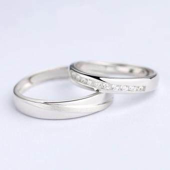 TANITTgemsแหวนคู่รักเงินแท้Silver92.5%ปรับไซส์ได้พร้อมใบรับประกันสินค้า