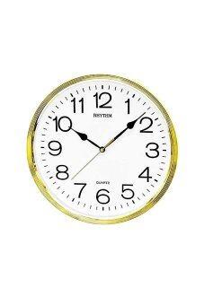 RHYTHM นาฬิกาแขวน รุ่น CMG734-NR18 (สีทอง/ขาว)